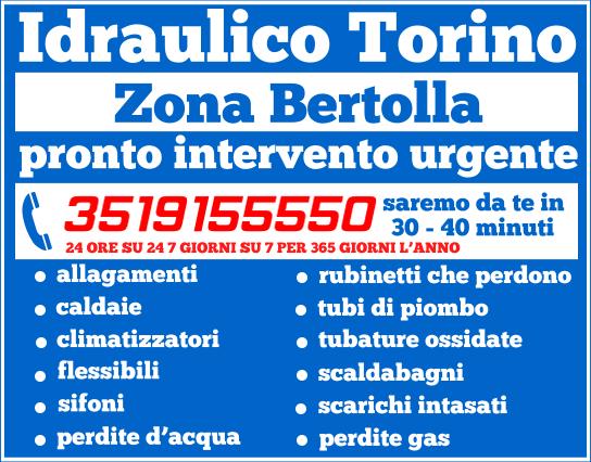 idraulico torino Zona Bertolla pronto intervento
