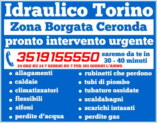 idraulico torino Zona Borgata Ceronda