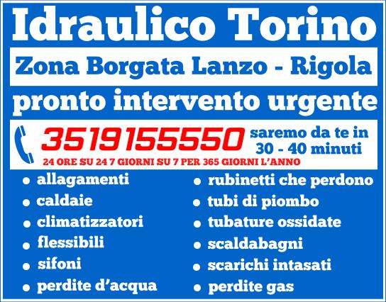 idraulico torino Zona Borgata Lanzo - Rigola