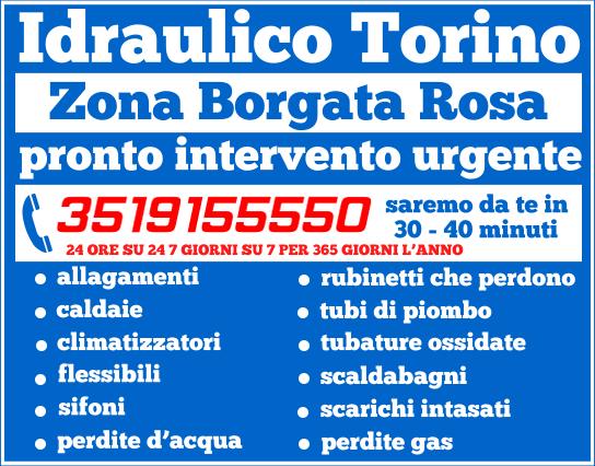 idraulico torino Zona Borgata Rosa