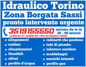 idraulico torino Zona Borgata Sassi