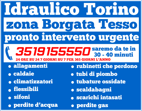 idraulico torino zona Borgata Tesso 21