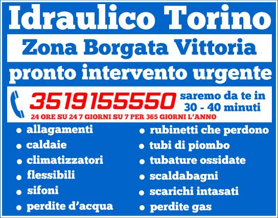 idraulico torino Zona Borgata Vittoria.