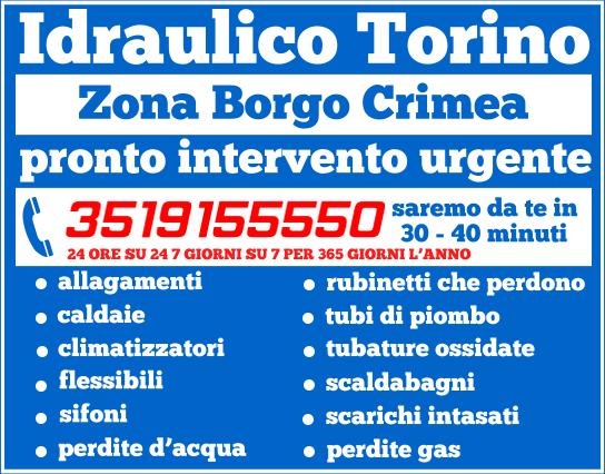 idraulico torino Zona Borgo Crimea