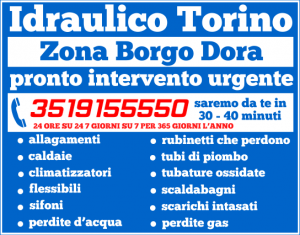 idraulico torino Zona Borgo Dora