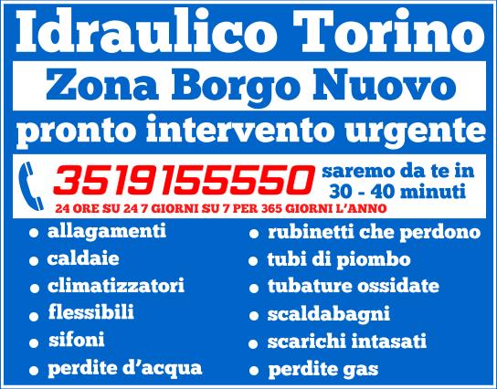 idraulico torino Zona Borgo Nuovo