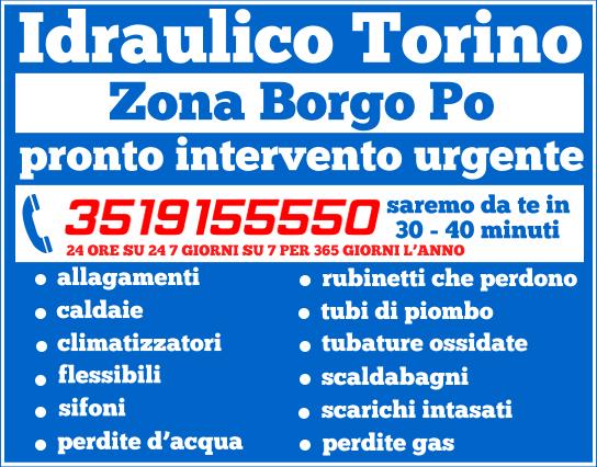 idraulico torino Zona Borgo Po