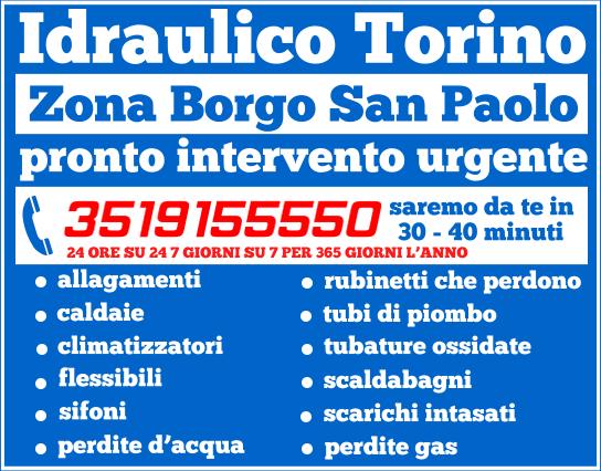 idraulico torino Zona Borgo San Paolo