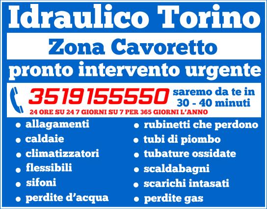 idraulico torino Zona Cavoretto