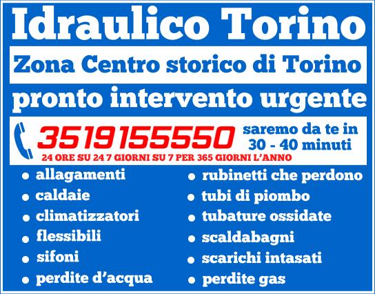 idraulico torino Zona Centro storico di Torino