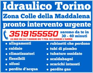 idraulico torino Zona Colle della Maddalena