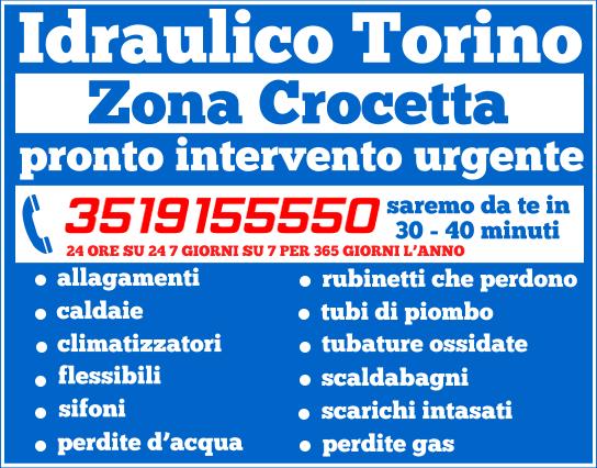 idraulico torino Zona Crocetta