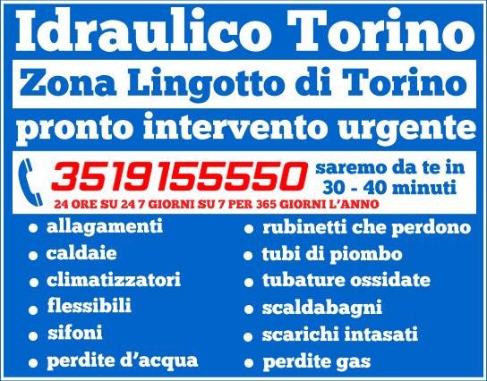 idraulico torino Zona Lingotto di Torino