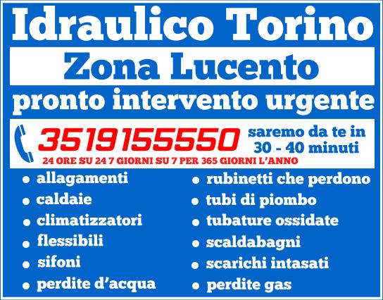 idraulico torino Zona Lucento