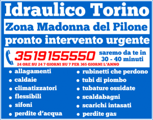 idraulico torino Zona Madonna del Pilone