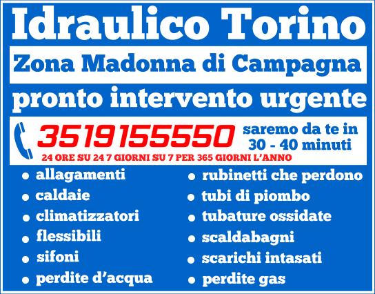 idraulico torino Zona Madonna di Campagna