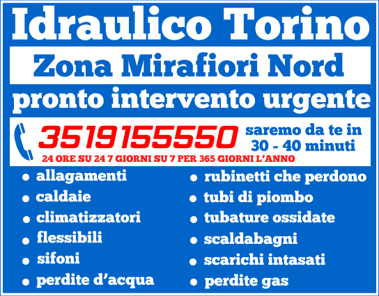 idraulico torino Zona Mirafiori Nord