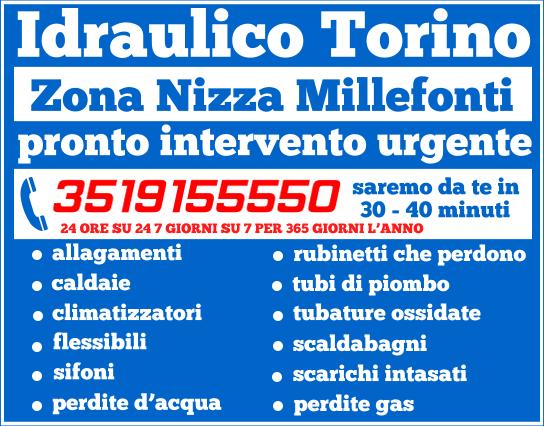 idraulico torino Zona Nizza Millefonti