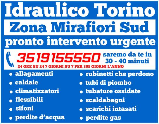 idraulico torino zona Mirafiori Sud