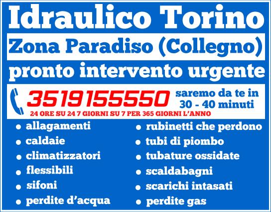 idraulico torino zona Paradiso (Collegno)
