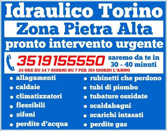 idraulico torino zona Pietra Alta
