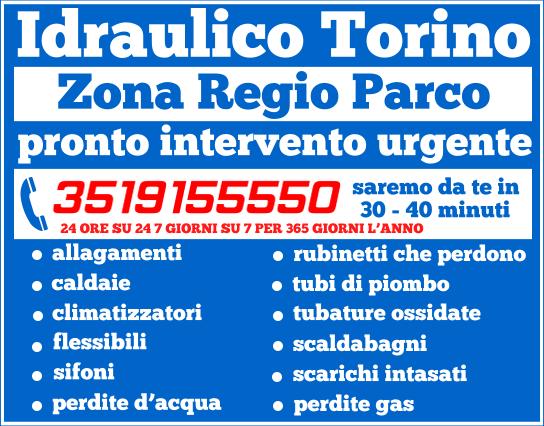 idraulico torino Regio Parco