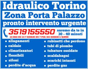 idraulico torino Zona Porta Palazzo