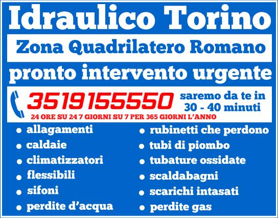 idraulico torino Zona Quadrilatero Romano
