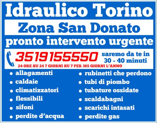 idraulico torino Zona San Donato