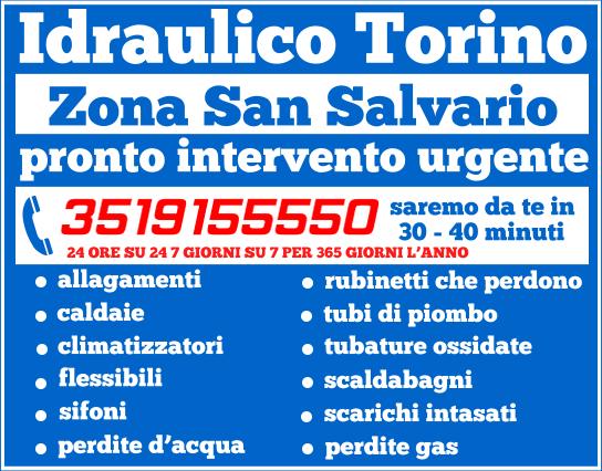 idraulico torino Zona San Salvario