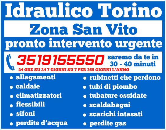 idraulico torino Zona San Vito