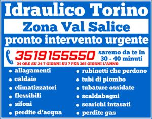 idraulico torino Zona Val Salice