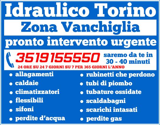idraulico torino Zona Vanchiglia