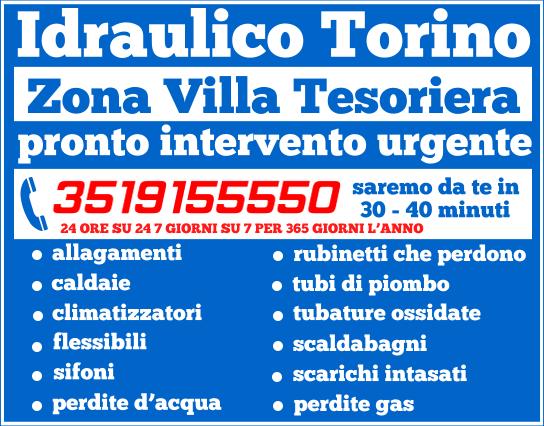 idraulico torino Zona Villa Tesoriera