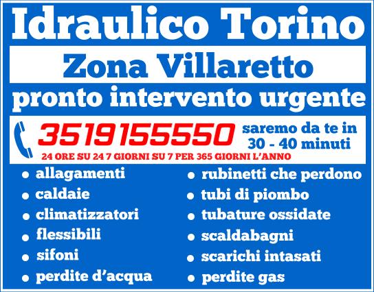 idraulico torino Zona Villaretto