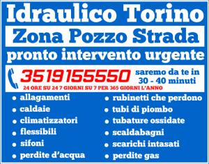 idraulico torino zona Pozzo Strada