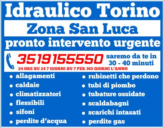 idraulico torino zona San Luca