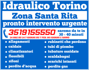 idraulico torino zona Santa Rita