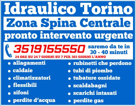 idraulico torino zona Spina Centrale